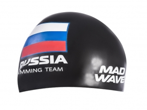 Шапочка MadWave Russian Swimming Team, black