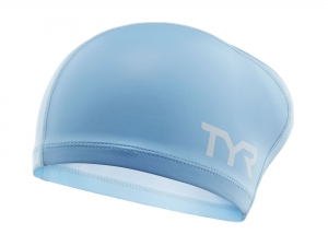 Шапочка TYR Long Hair Silicone Comfort, blue