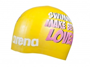 Шапочка Arena Poolish Moulded, yellow/lovers